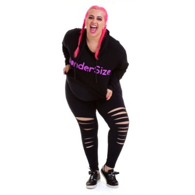 Legging Plus Size Estiletada Joana Dark - Emana Air Preto