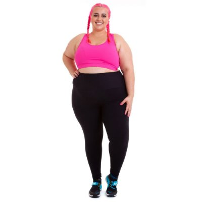 Top Plus Size Phelps Rosa Emana Plus sem zíper