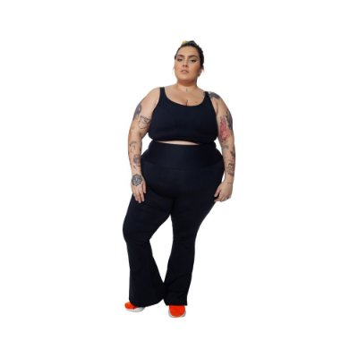 Calça Bailarina Plus Size - Joana Dark Emana Air - Preto