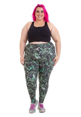 Legging Joana Dark Estampada Emana Plus Giovanna