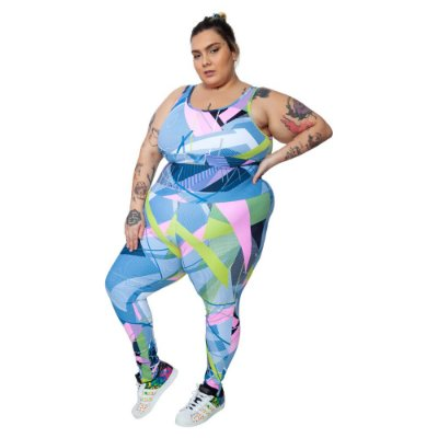 Legging Plus Size Joana Dark - Emana Plus Estampada Renata