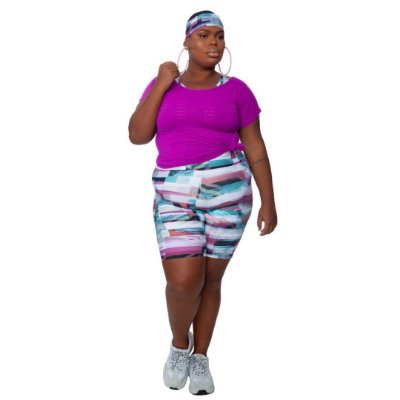 Bermuda  Plus Size Joana Dark - Emana Plus Estampada Indi