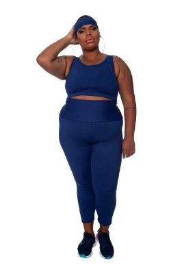 Legging Plus Size Joana Dark - Emana Plus Marinho