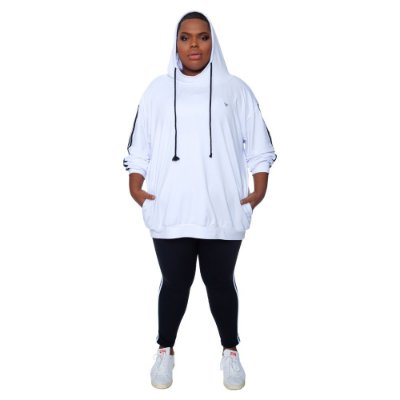 Moletom Plus Size Branco Wonder