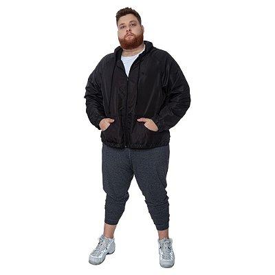 Jaqueta Plus Size Corta-Vento Sabiha Preta