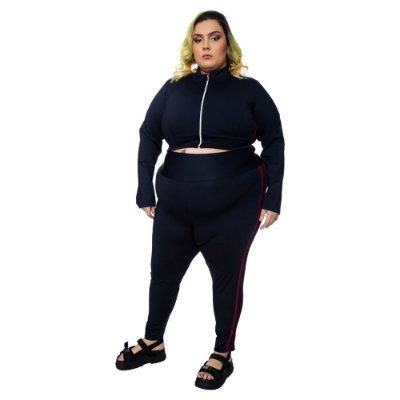 Blusa Emana Plus Faixas - Bordô