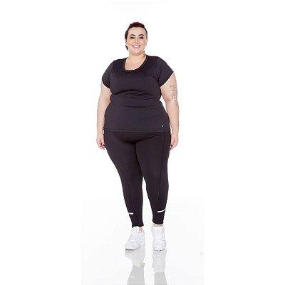 Calça Legging Plus Size Joana Dark Emana Plus Refletiva
