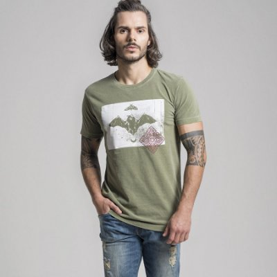 CAMISETA STONE WINGS - MILITAR