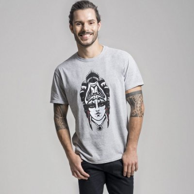 CAMISETA STONE QUEEN AND THE BEAST - MESCLA