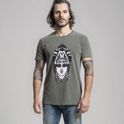 CAMISETA STONE QUEEN AND THE BEAST - MILITAR