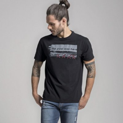 CAMISETA STONE THE PAST WAS HERE - PRETO