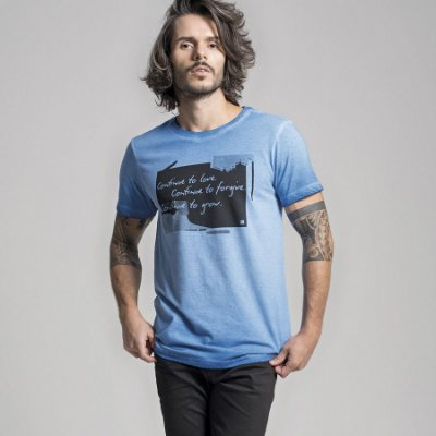 CAMISETA STONE CONTINUE TO GROW - AZUL ROYAL