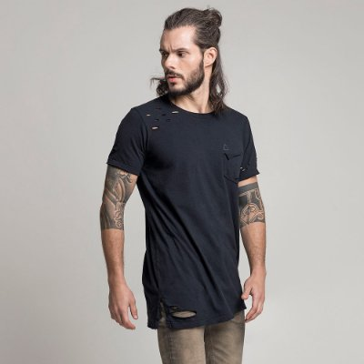 CAMISETA DESTROYED PRETO