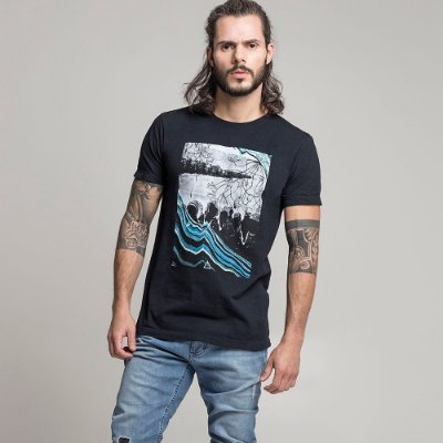 CAMISETA STONE FAMILY LAKE PRETO