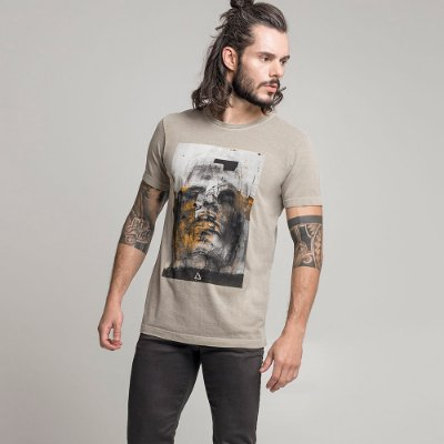 CAMISETA STONE COAL FACE CAQUI