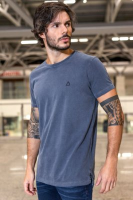 CAMISETA - STONE LONG COLORS - MARINHO