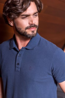 POLO STONE BEGIN - AZUL NAVY