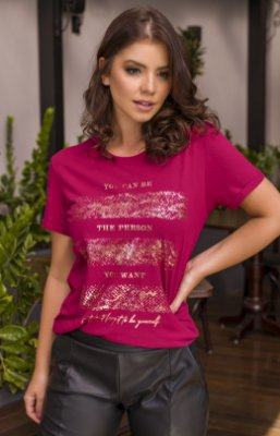 T-SHIRT THE PERSON - VERMELHO