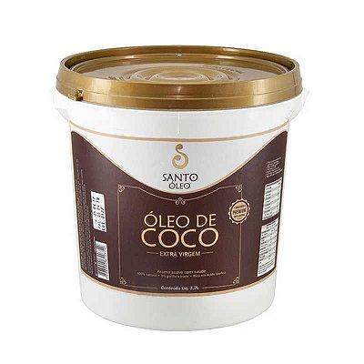 OLEO DE COCO EXTRA VIRGEM - SANTO ÓLEO -  BALDE 3,2 litros