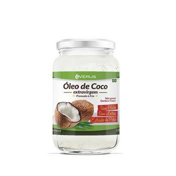 4 Unidades de OLEO DE COCO VERUS 220 ml + BRINDE (200 g de SAL do ROSA FINO)
