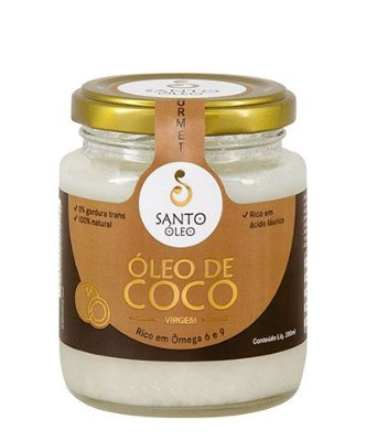 ÓLEO DE COCO SANTO OLEO -  VIRGEM - 200 ML