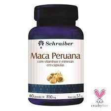MACA PERUANA - com vitaminas e minerais 60 Cápsulas- SCHRAIBER