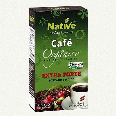 CAFÉ NATIVE PÓ-  250 gramas - 100% arabica- EXTRA FORTE ORGANICO