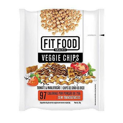 Chips de Grão de Bico Sabor Tomate e Manjericao Fit Food 50g