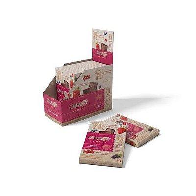 Chocolife Senses 71% Frutas Vermelhas - unidade de 25g - Chocolife