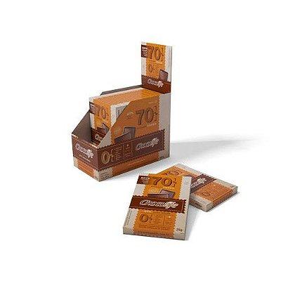 Chocolate 70% Cacau unidade de 25g - Chocolife
