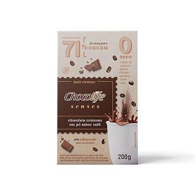 Chocolate Cremoso em Pó Senses Café 200g - Chocolife