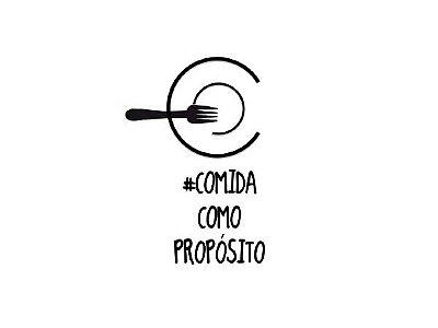 """Camiseta Unissex """"#COMIDA COMO PROPÓSITO"""""""