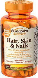 Hair, Skin and Nails 120 caps Sundown