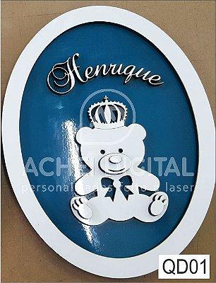 Quadro Decorativo Quarto Infantil Personalizado MDF  25x25cm