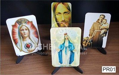 Porta Retrato Religioso com Tripé MDF 3mm Adesivado - 9x14cm a 13x20cm