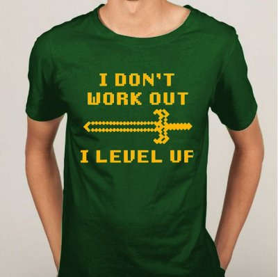 Camiseta I Don't Work Out I Level Up