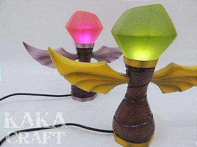 Kit Luminárias USB Wards Verde e Rosa (Sentinela League of Legends)