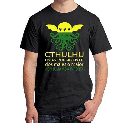 Camiseta Cthulhu Para Presidente
