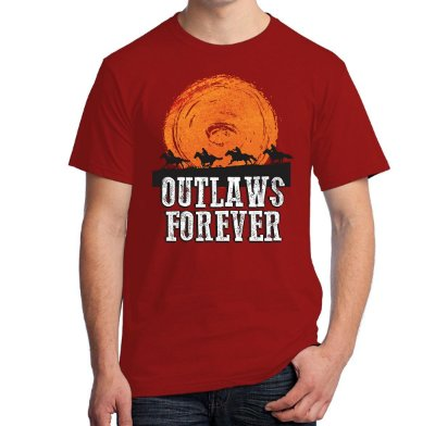 Camiseta Outlaws Forever (Red Dead Redemption)