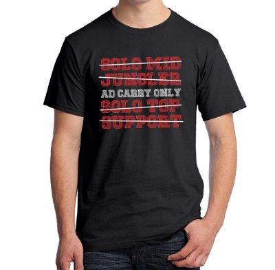 Camiseta AD Carry Only (League of Legends)