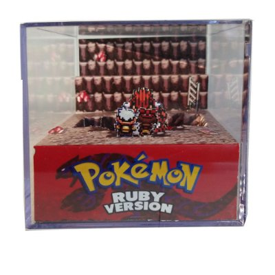 Diorama Cubo Pokemon Ruby