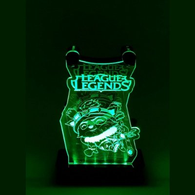 Suporte Headset  League of Legends Com Led - TEMMO