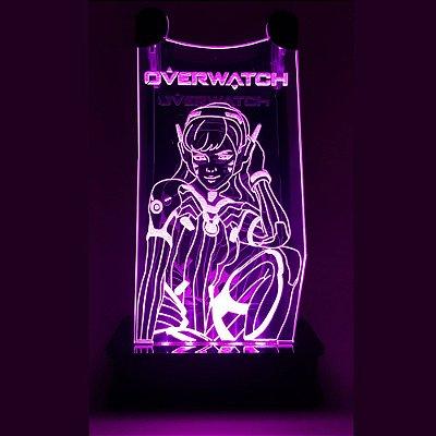 Suporte Headset Overwatch Com Led - D.V.A