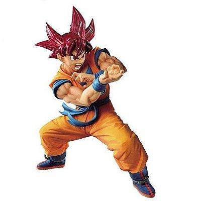 ACTION FIGURE DRAGON BALL SUPER - GOKU SUPER SAYAJIN GOD - BLOOD OF SAIYANS SPECIAL V