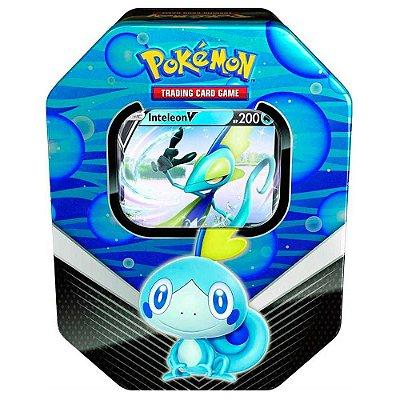 Deck de Lata Pokemon Parceiros de Galar - Inteleon (BLUE)