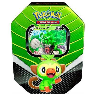 Deck de Lata Pokémon Parceiros de Galar - Rillaboom (Green)
