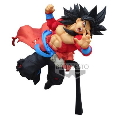 ACTION FIGURE DRAGON BALL HEROES - GOKU SUPER SAYAJIN 4 XENO - 9TH ANNIVERSARY FIGURE