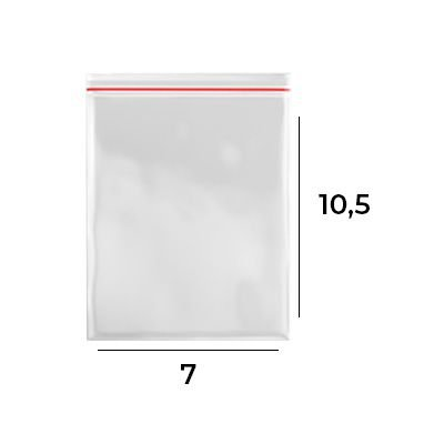 Saco Zip Lock 7 x 10,5 - N3