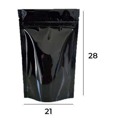 SACO STAND UP POUCH PRETO COM ZIP – 21 X 28 X 5,5