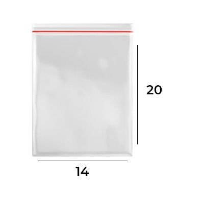 Saco Zip Lock 14 x 20 - N7